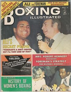 BOXING ILLUSTRATED MAG MUHAMMAD ALI HOWARD COSELL GEORGE FOREMAN AUGUST 1974 $22.00