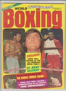 WORLD BOXING MAG MUHAMMAD ALI JERRY QUARRY GEORGE FOREMAN COVER SEPTEMBER 1974 $24.00