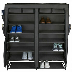 Home Basics Polyester 7 Tier Multi-Purpose Shoe Rack