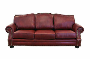 Westland and Birch Winchester Leather Sofa