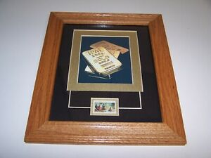 Reproduction California Gold Rush 1849 33 Cent Stamp Litho Framed Approx 4