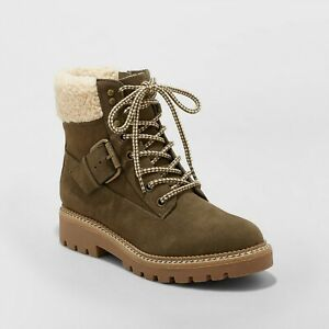 Women's Susan Sherpa Tipped Hiker Boots - Universal Thread, Brand New!