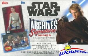 2018 Topps Star Wars Archives Signature Series HOBBY Box Buyback AUTO