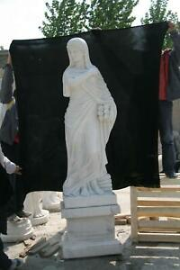 BEAUTIFUL HAND CARVED MARBLE ESTATE EUROPEAN STYLE 4 SEASON STATUES - 4SST8