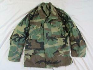 Vtg 80s 1985 US Army Camouflage M-65 Field Jacket Coat Cold Weather Small Short