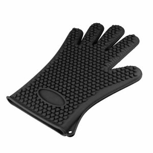 BBQ Grilling Gloves Oven Mitts for Cooking Baking Barbecue Potholder Black