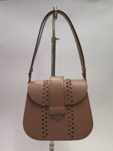 Alaia Shoulder Bag Blush Nude Leather Small Flap Bag NEW