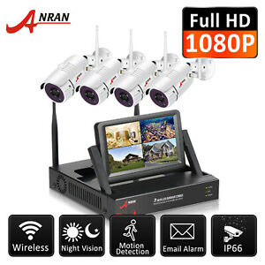 ANRAN Wireless Security Camera System Outdoor Home with 7'' Monitor WiFi NVR Kit