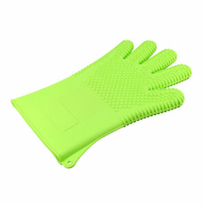 BBQ Grilling Gloves Oven Mitts Large for Cooking Baking Barbecue Potholder Green