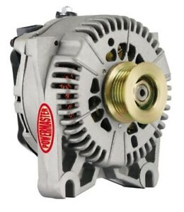 POWERMASTER 47781 200amp Alternator Ford 4G Style Natural Finish