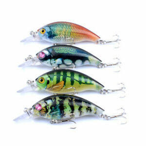 Strike Maxx Natural Series Bass and Crappie Rattle Bait 3inch 4 Pack