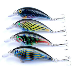 Strike Maxx Custom Color 3D Bass and Crappie Rattle Bait 3 inch 4 Pack