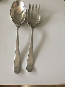 Antique  Shreve Sterling Silver Serving Set 2pc Fork Spoon No mono 148Gr