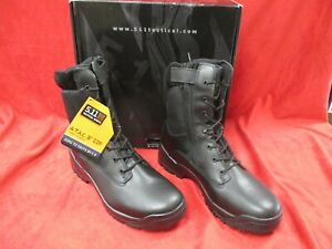 ATAC 8 SIDE ZIP 5.11 PERFORMANCE TACTICAL SERIES BLACK BOOTS SIZE 15 R NEW W BOX