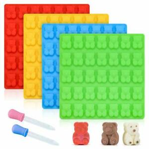 Candy Making Molds Gummy Bear - Large 1 Inch Chocolate Silicone 4 Pack LFGB Test