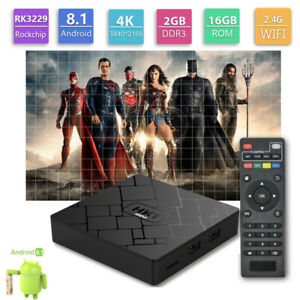 HK1 Mini Android 8.1 TV Box RK3229 Quad-Core 2G16G 4K H.265 2.4GHz USB WiFi HD