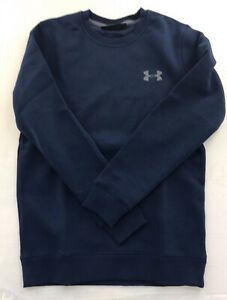 New Under Armour Fitted Navy Coldgear Sweatshirt - 1302854 Small to 5XL