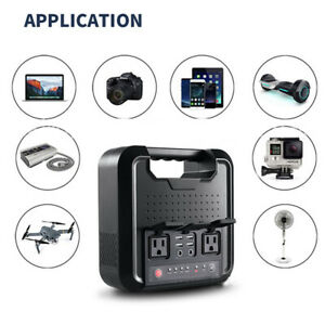 300W Portable Generator Camping Power Supply Source Station 4USB DCAC Inverters