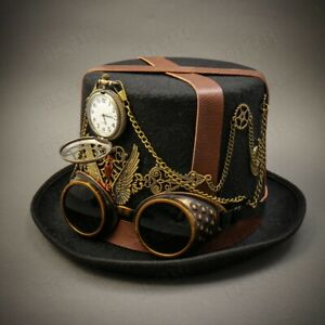 For Men amp; Women Steampunk Top Hat Victorian Costume Party Prom Top Hat Goggles $39.95