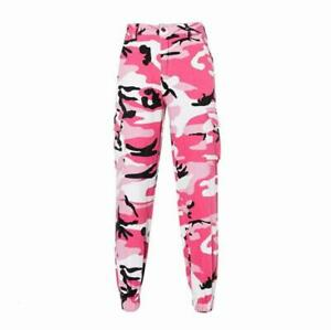 Women High Waist Loose Tooling Pants Camouflage Slim Leisure Girls Legging Ycart