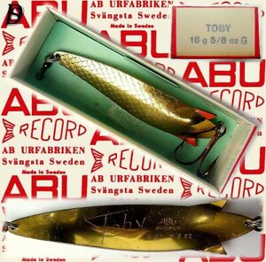 Vintage ABU Svängsta Record Spoon Toby 18gr G New in Box available 1956-69