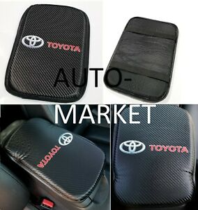 For Toyota Racing Carbon Car Center Console Armrest Cushion Mat Pad Cover X1