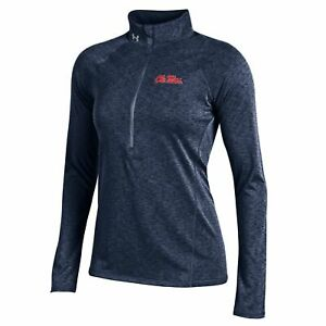 Ole Miss Rebels Under Armour Women Lightweight Performance 12 Zip Pullover