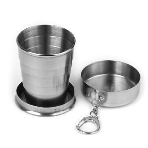 Stainless Steel Travel Camping Hiking Folding Collapsible Cup