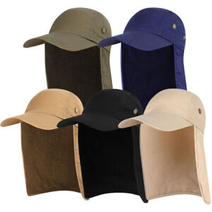 Unisex Baseball Ear Flap Cap Neck Cover Sunshade Sports Hat for Fishing Outdoor