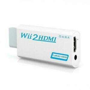 Wii to hdmi Converter Gana wii Adapter hdmi1080p 720p White