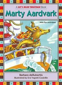 Marty Aardvark by Barbara deRubertis (English) Paperback Book Free Shipping!