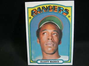 1972 TOPPS  #277 ELLIOTT MADDOX Rangers in EXMT/NMT or better