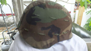 PASGT UNICOR Military Kevlar Helmet M-9 Camo Cover & Chin Strap  SUMMER SPECIAL!