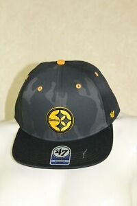 47 kids steelers snap back black and grey camo  R25C4 $16.88