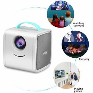 Meyoung Portable LED LCD Projector Full HD 1080P Supported with PC Mac TV iPad