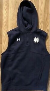 Notre Dame Football Team Issued Under Armour Sweatshirt Large #49