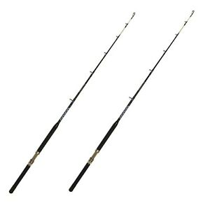 30-50 lb. Open Guide Boat Pole - Saltwater Fishing Rod (2 Pack)