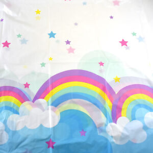 Rainbow and Clouds Table Cloth 54 Inch x 108 Inch $7.50