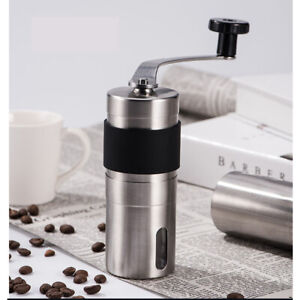 Manual Coffee Grinder Stainless Steel Ceramic Burr Portable Hand Crank Grinder