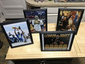 Lebron James Framed Pictures 8x10 Lot Of 4 Los Angeles Lakers Cleveland Cavs NEW