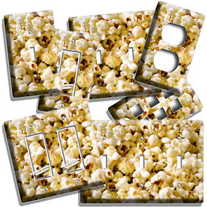 POPCORN LIGHT SWITCH OUTLET WALL PLATE COVER TV ROOM HOME KITCHEN CAFE ART DECOR