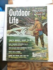 1962 Outdoor Life Magazine. Fly Fishing Cover. Garcia Tackle Catalog Insert.