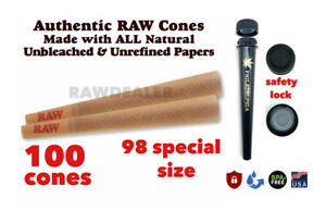RAW Classic 98 special Size Pre Rolled Cone W tip 100 Pack AUTHORIZED AUTHENTIC $15.89