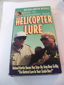 1994 ROLAND MARTIN Reveals How to Customize your Helicopter Lure VHS Tape