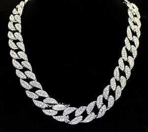 Miami Cuban Link 14k White Gold Plated 16