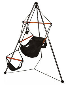 Hammaka Portable OutdoorCamping Tripod Stand With Hanging Air Chair Combo