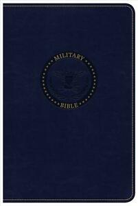 CSB Military Bible, Navy Blue Leathertouch by Csb Bibles by Holman (English) Imi