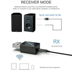 Bluetooth 5.0 Receiver AudioTransmitter Adapter for TVPC AUX Headphone Speaker