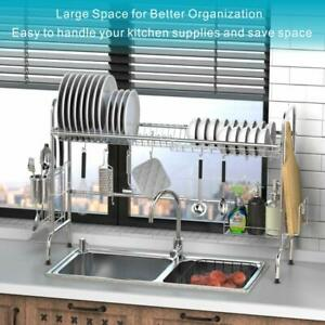 Over the Sink Dish Drying Rack, iSPECLE Premium 201 Stainless Steel Dish Rack