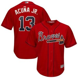 Ronald Acuna Jr #13 Atlanta Braves Red Classic Baseball Jersey